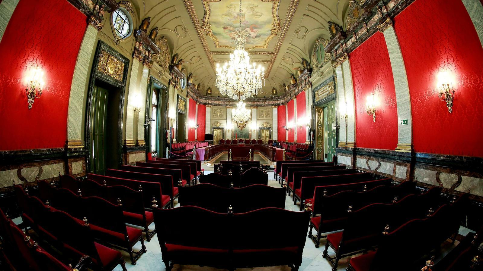 La sala del Tribunal Supremo donde se celebró el juicio del 'Procés'. / ANGEL DÍAZ / EFE