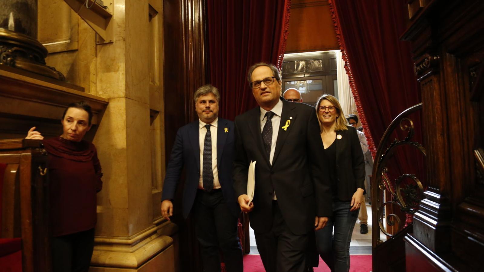 """Torra convoca els líders dels grups parlamentaris el 16 de novembre per encetar una """"taula de diàleg"""""""