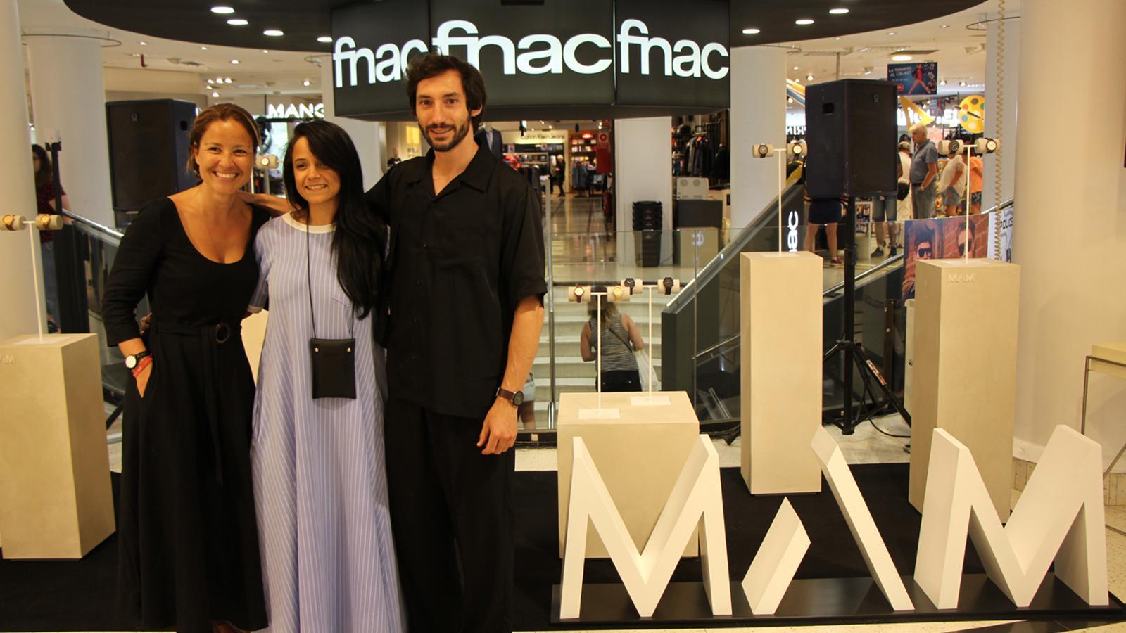 Part de l'equip de MAM Originals a l'espai que ocuparà la marca a Pyrénées. / L. M. (ANA)