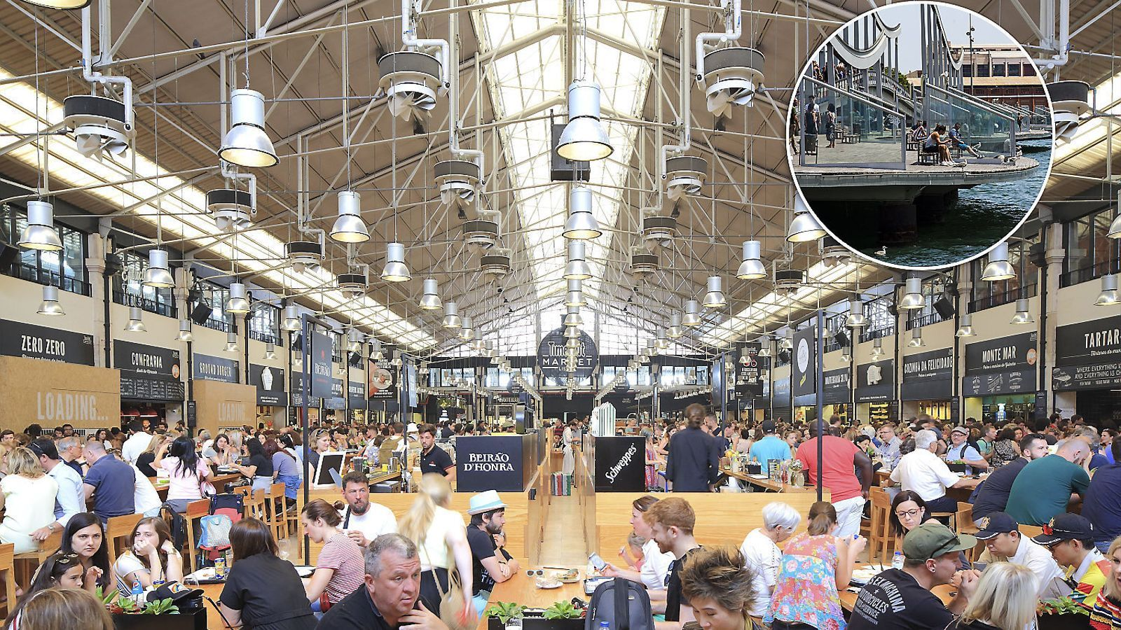 1. El Time Out Market de Lisboa va ser el primer que va obrir portes el 2014.  2. Imatge del Maremàgnum.