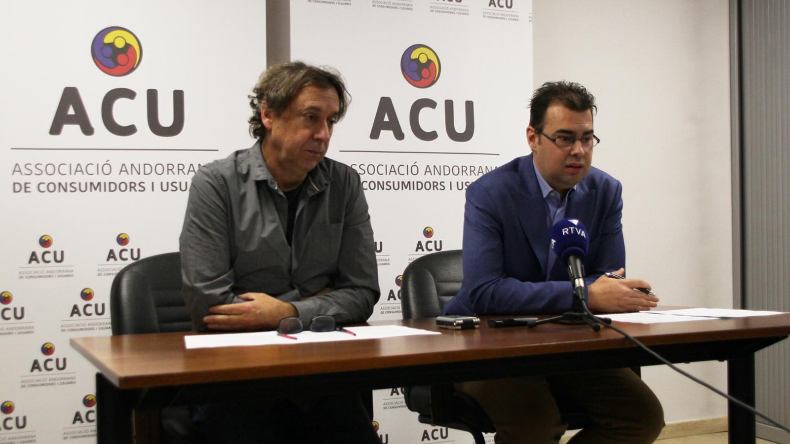 El president de l'ACU, Lluís Ferreira, durant la roda de premsa de presentació d'aquest dimecres. / M. P.