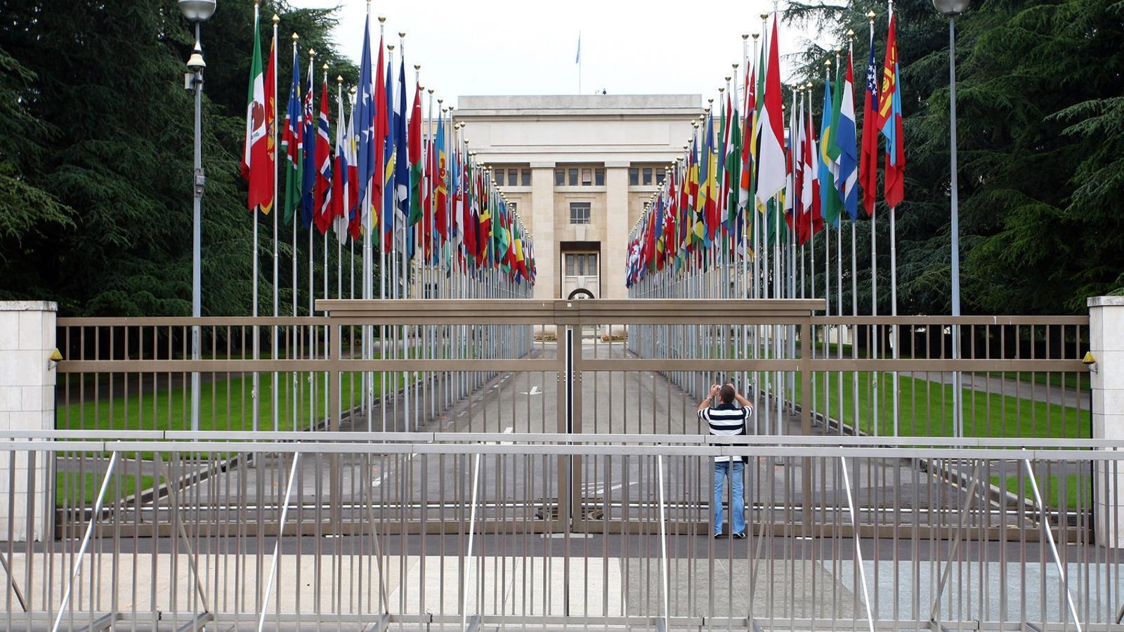 Imatge de la seu de les Nacions Unides a Ginebra, Süissa.