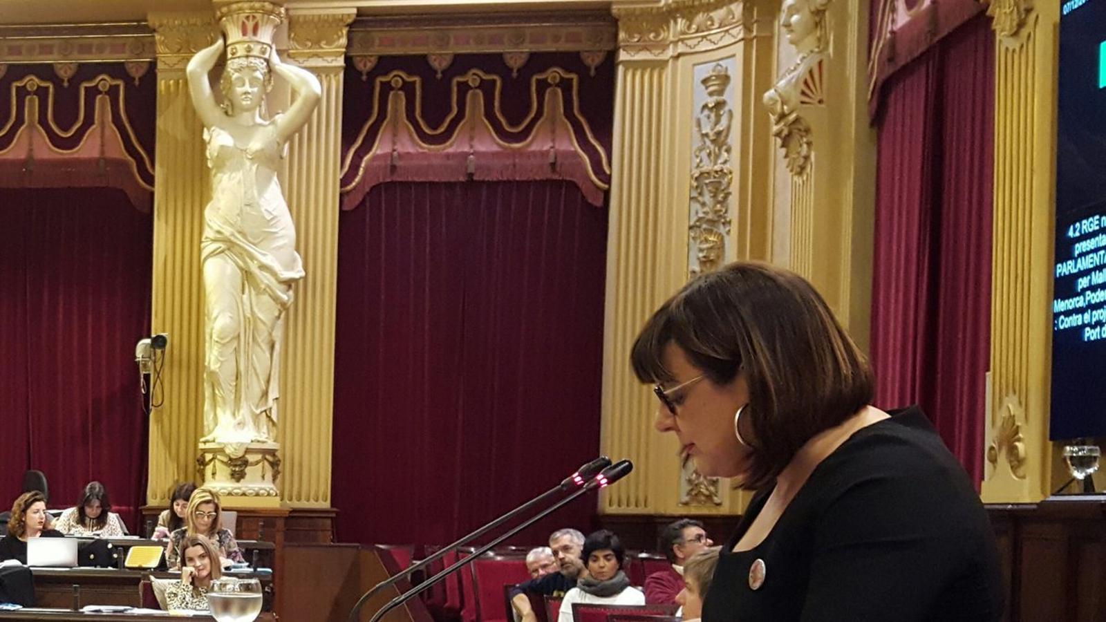 La coportaveu de MÉS per Mallorca, Bel Busquets, aquest dimarts, al Parlament.