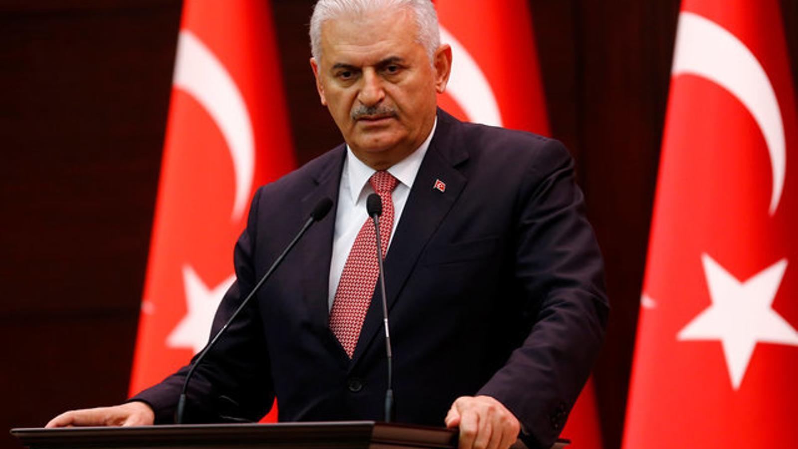 El primer ministre de Turquia, Binali Yildirim, compareix per explicar l'acord amb Israel.