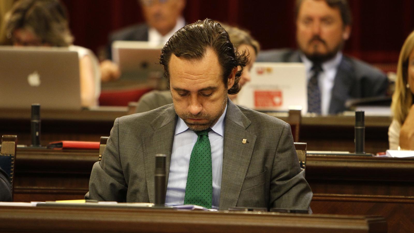 L'expresident de les Illes Balears José Ramón Bauzá, al Parlament en una imatge d'arxiu