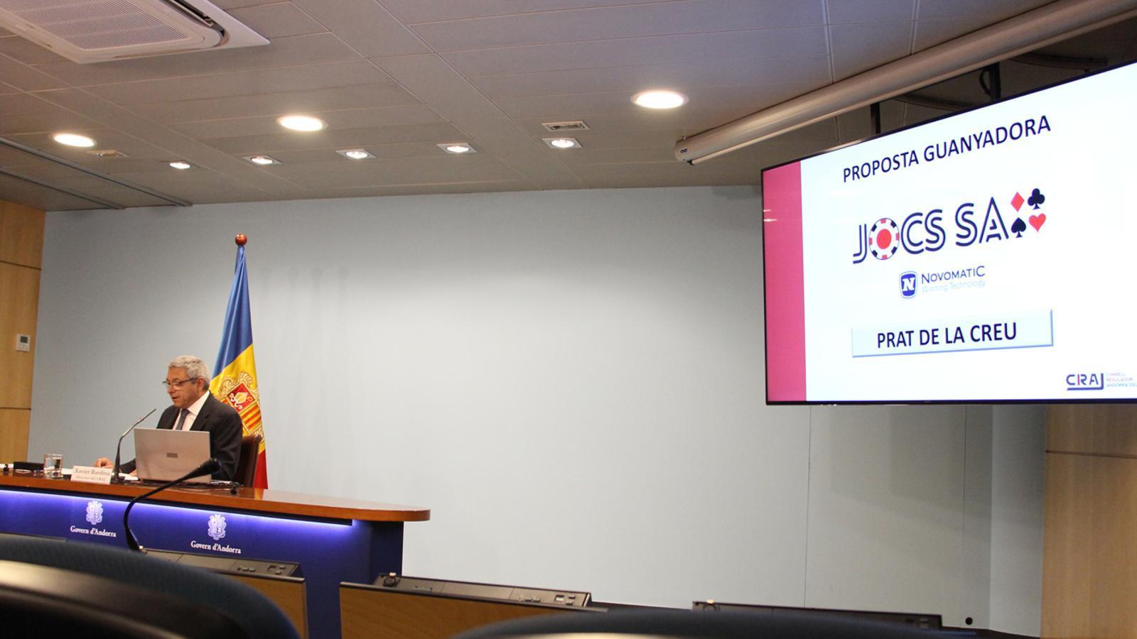 Xavier Bardina el dia de l'anunci de l'adjudicació. / M. T. (ANA)