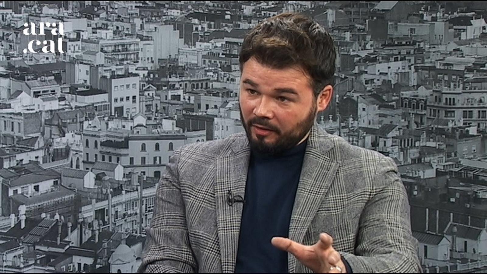 """Gabriel Rufián, sobre el sentit de la cimera del referèndum: """"Serveix per posar un mirall davant dels comuns per saber què pensen els seus votants"""""""
