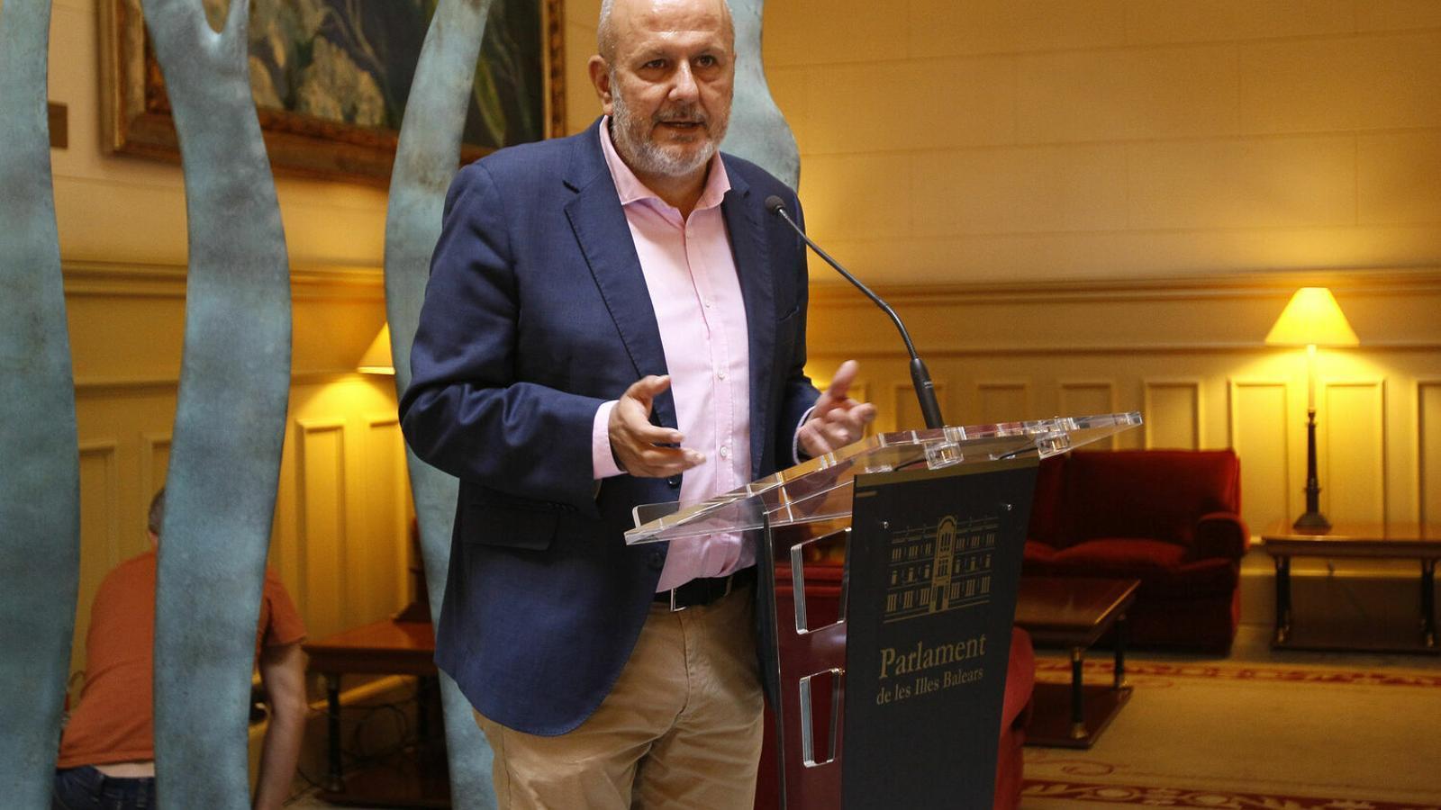El portaveu parlamentari de MÉS per Mallorca, Miquel Ensenyat
