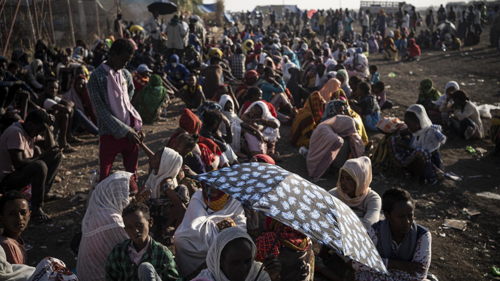 Refugiats etíops al centre de recepció de refugiats de la frontera de Hamdayet, al Sudan