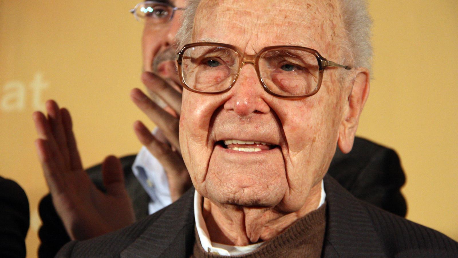 Heribert Barrera, en un acte recent de commemoració dels 80 anys d'ERC