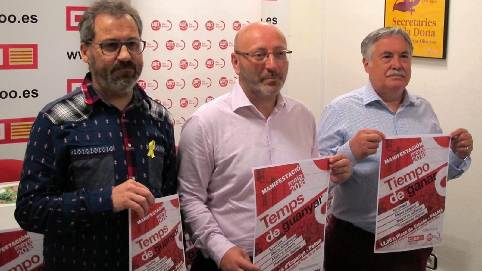 El sindicats criden a la mobilització per a aquest 1 de maig
