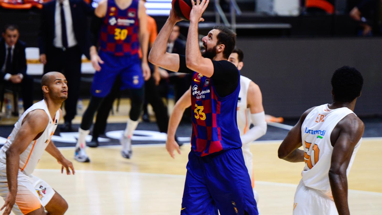 Nikola Mirotic durant la final contra el Baskonia