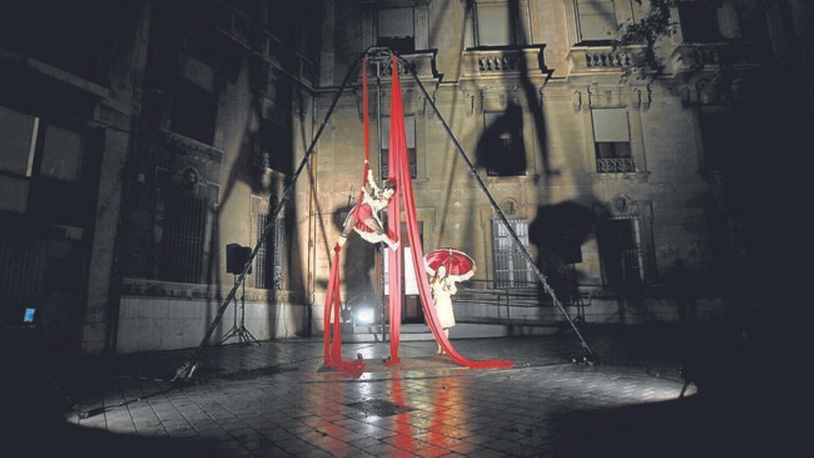 Imatge d'arxiu d'un espectacle al centre de Palma.