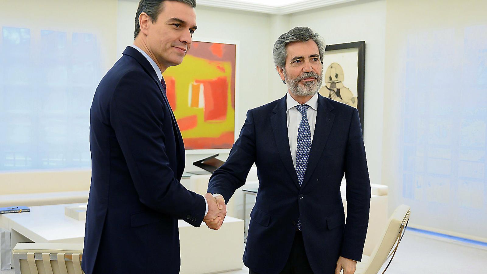 El president del CGPJ i el Tribunal Suprem, Carlos Lesmes, en una foto d'arxiu.