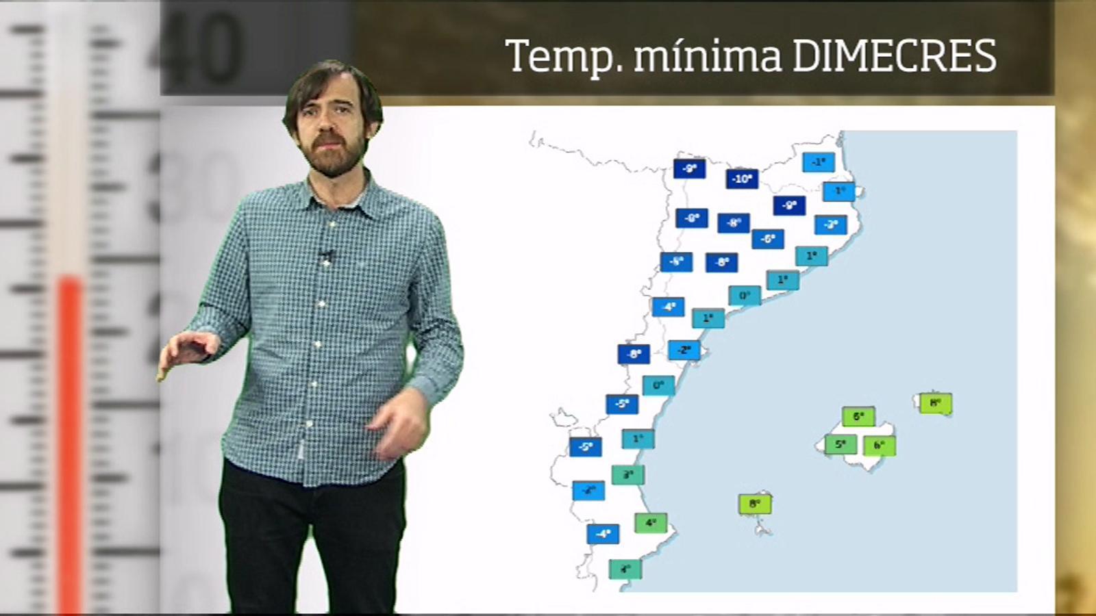 Méteo especial: pic de la fredorada i possibles precipitacions