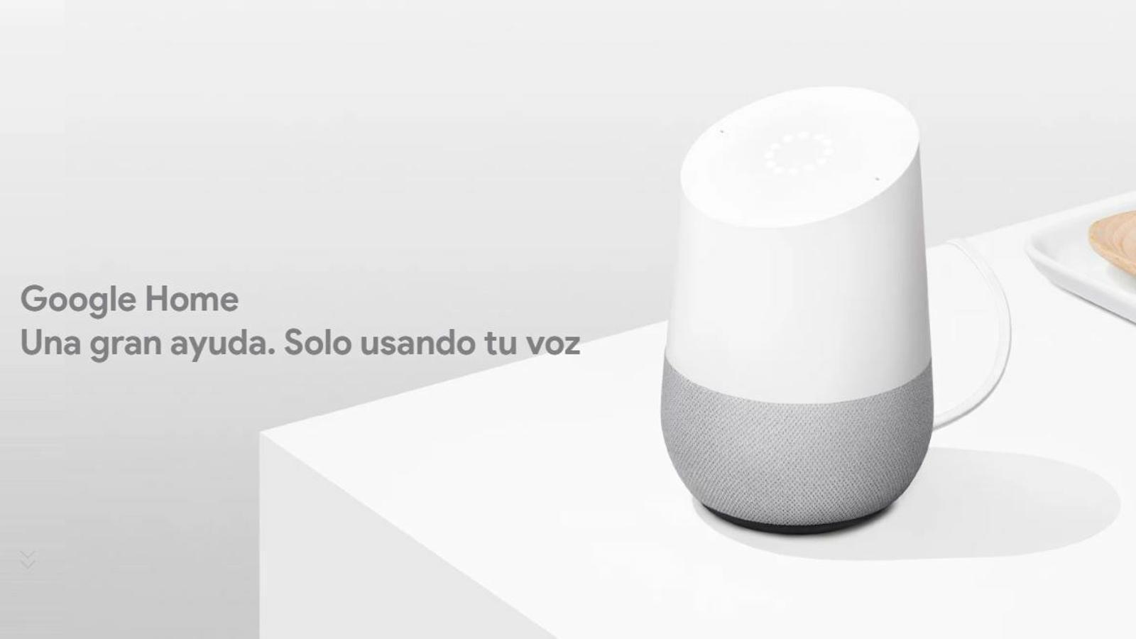 Imatge d'un dispositiu de l'assistent virtual Google Home.