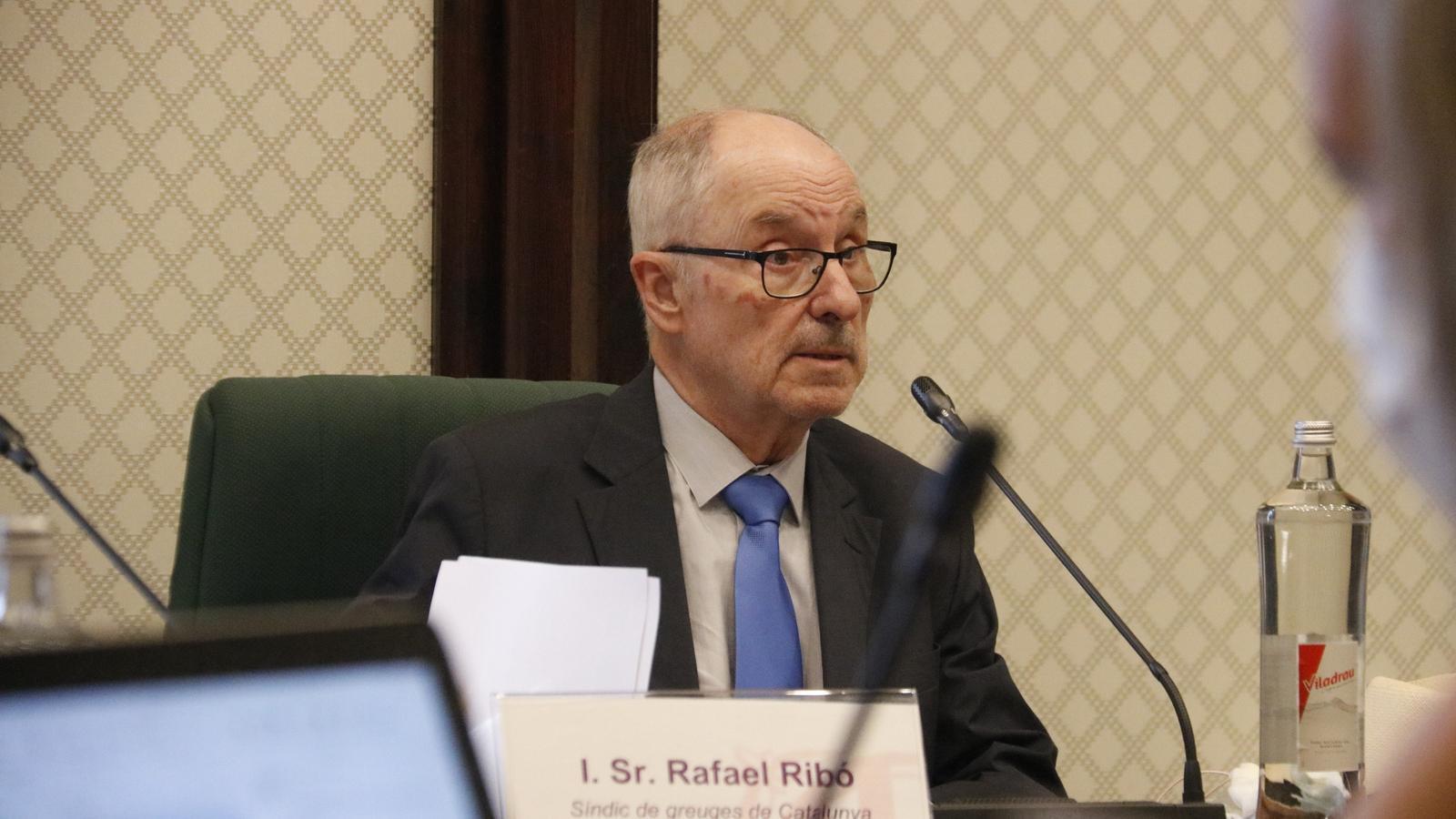 El síndic de greuges, Rafael Ribó, aquest dilluns al Parlament