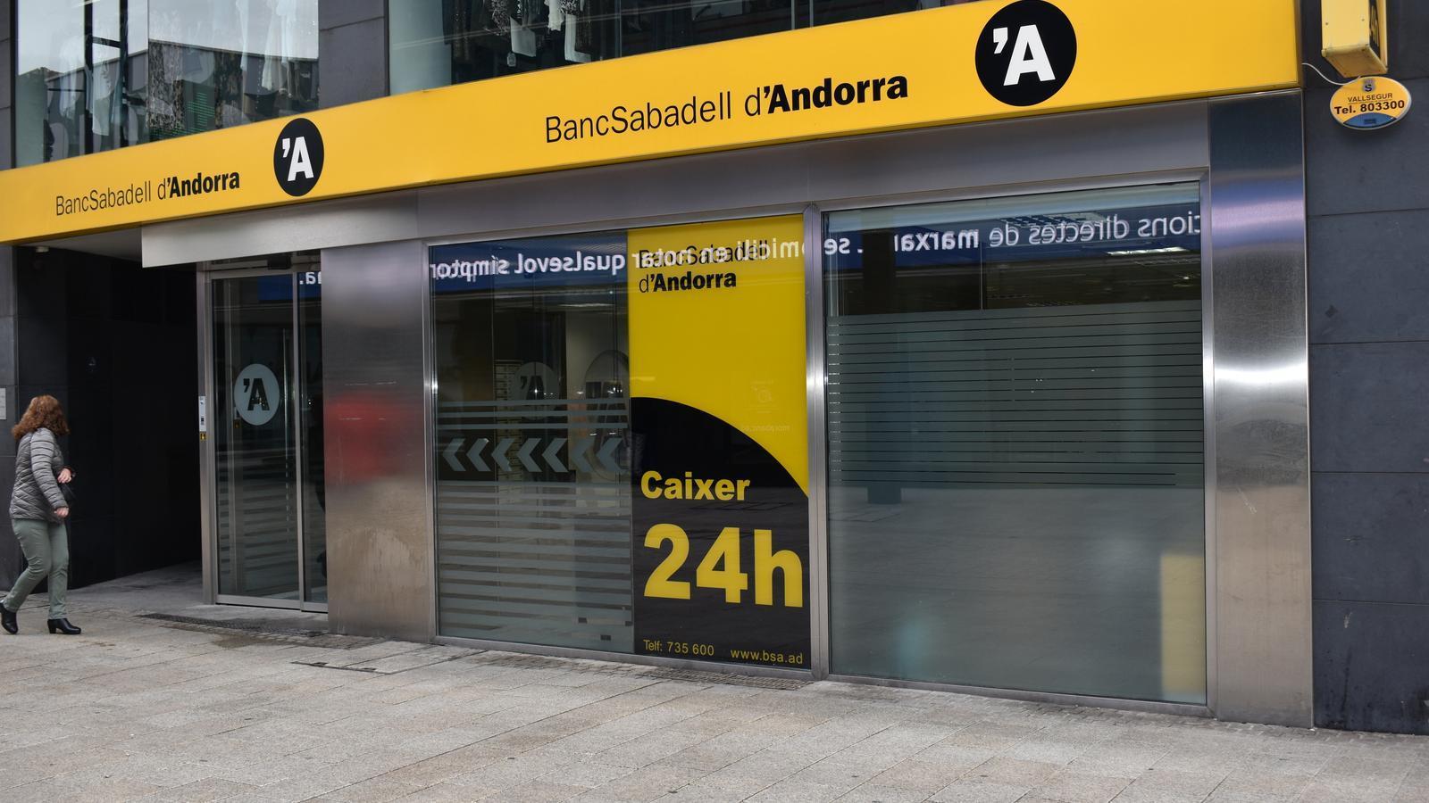 Una oficina del Banc Sabadell d'Andorra. / M. R. F.