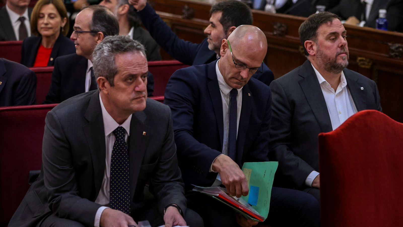 Les diferències estratègiques de les defenses afloren en l'arrencada de les declaracions de Junqueras i Forn / EFE