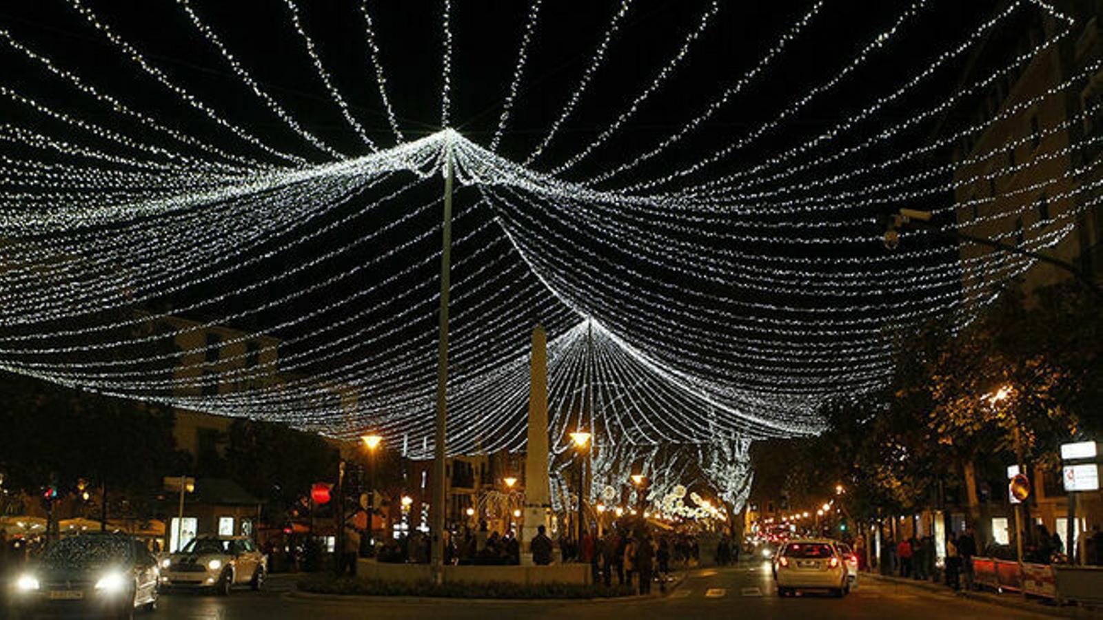 Llums de Nadal a Palma. / ISAAC BUJ