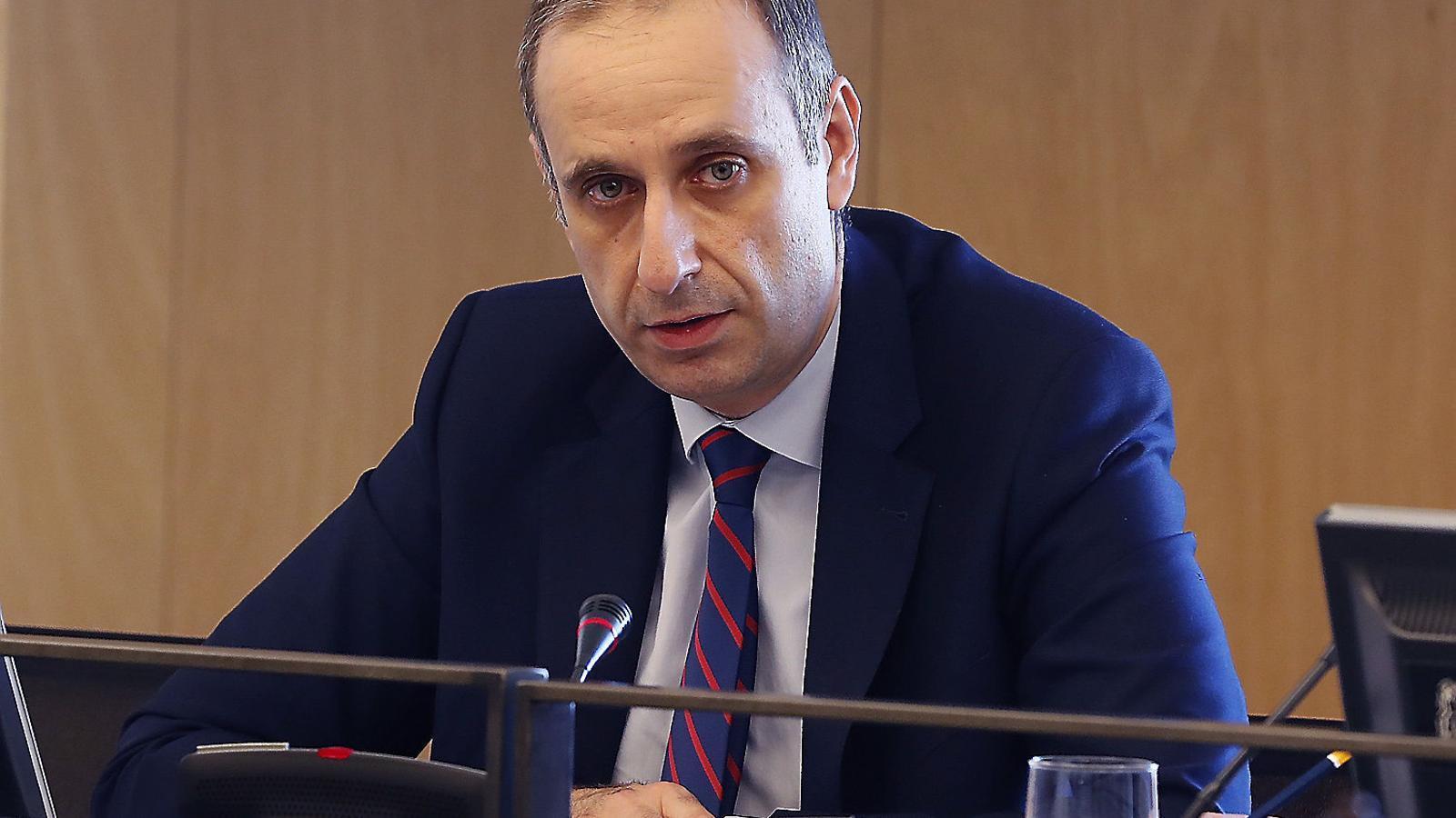 Jaime Ponce, president del Frob, ahir al Congrés de Diputats.