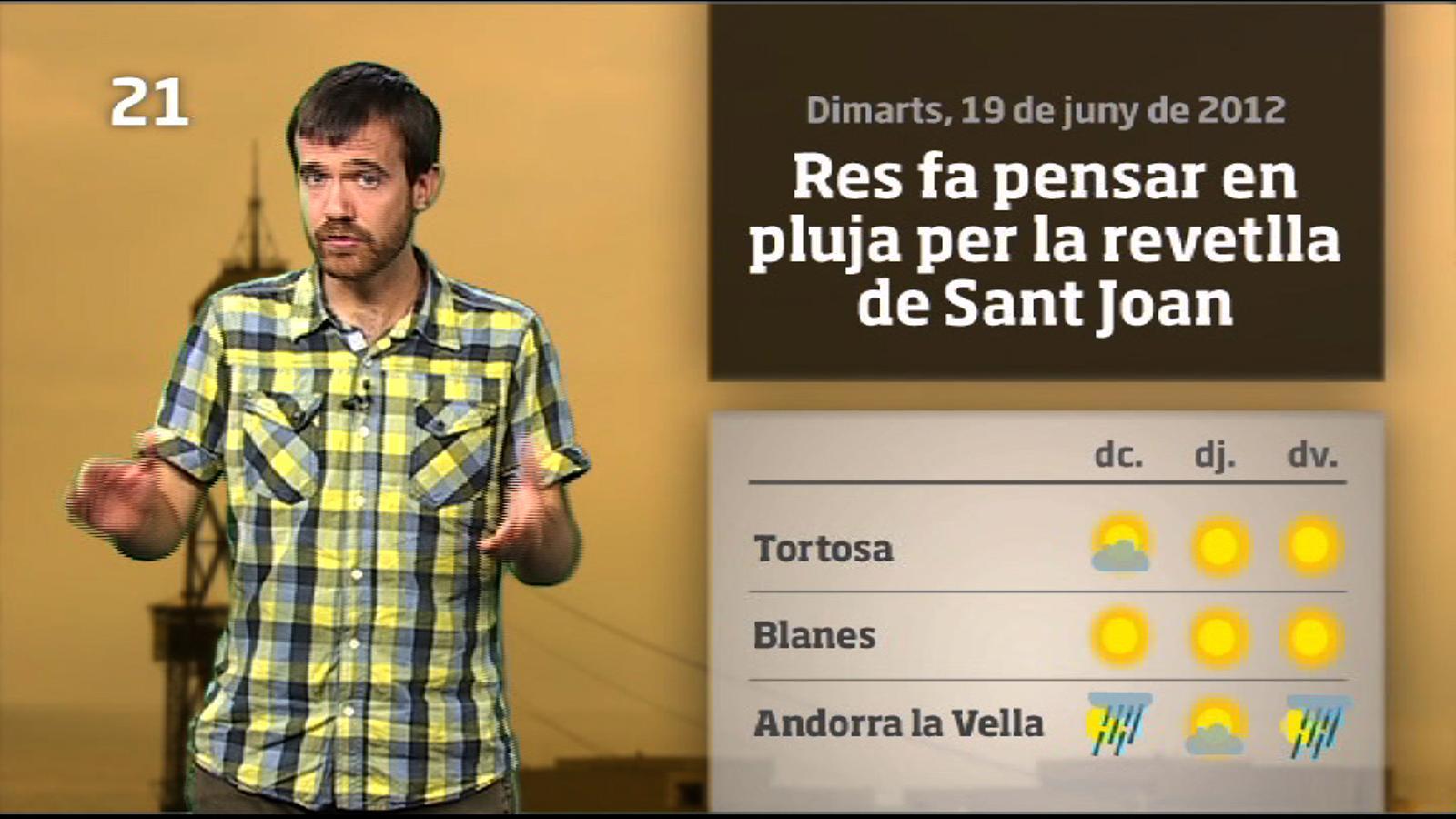 La méteo en 1 minut: torna el sol i augmenta la calor (20/06/2012)