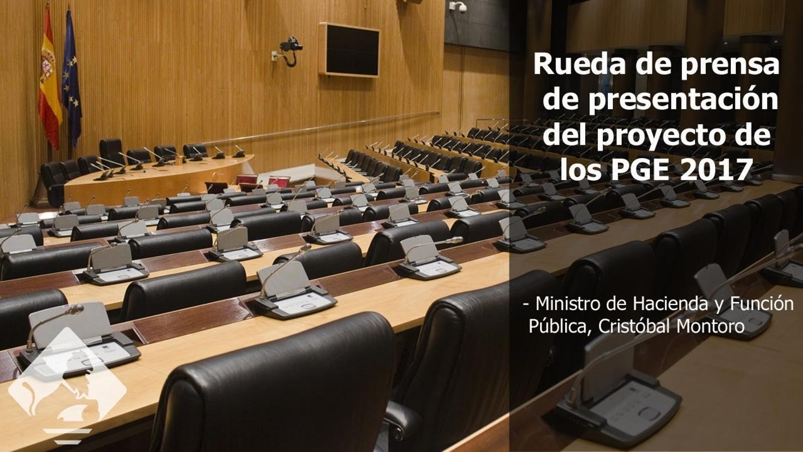 Montoro presenta el detall dels pressupostos espanyols