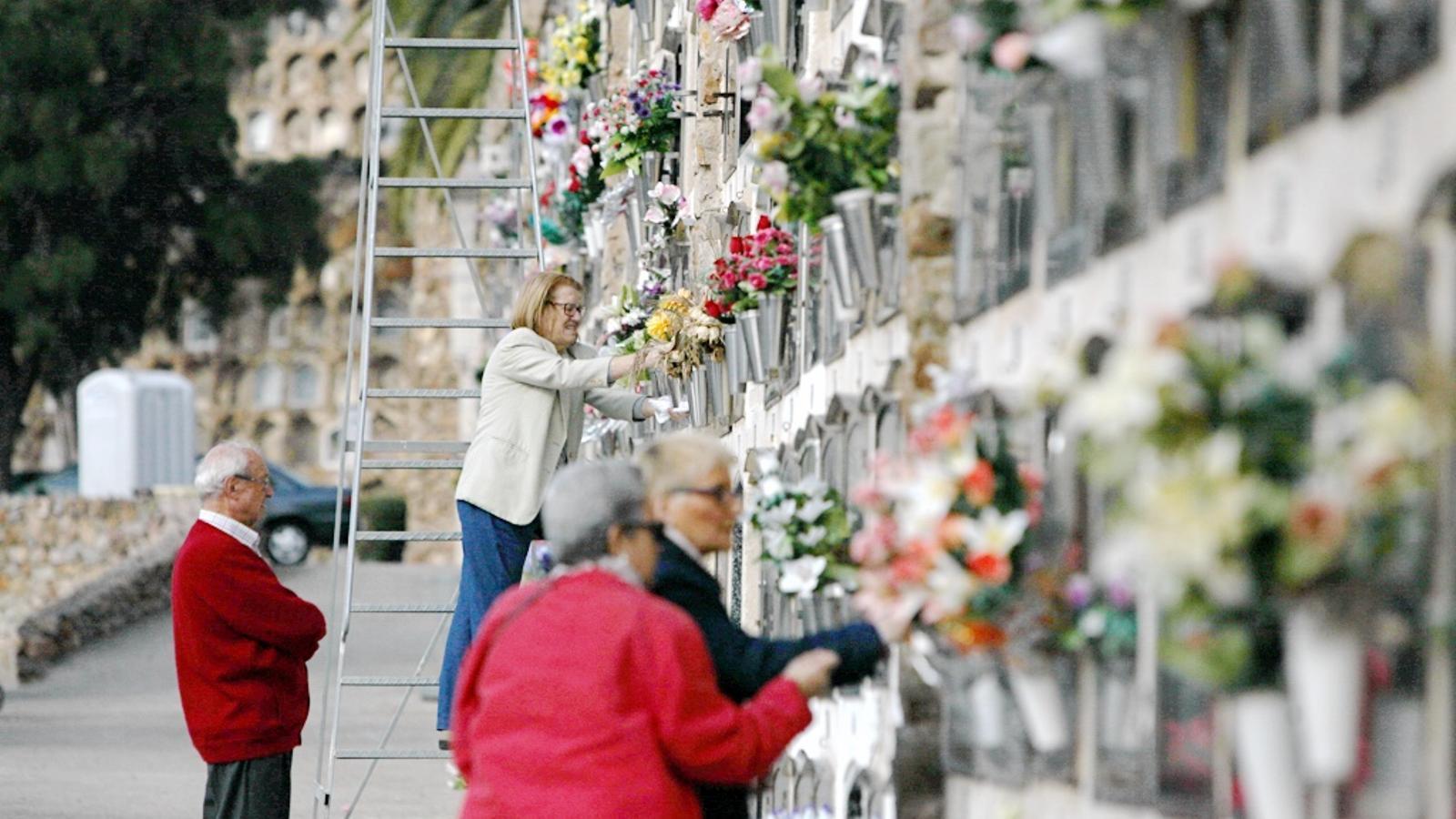L'ambient aquest diumenge al matí al Cementiri de Montjuïc / CÈLIA ATSET