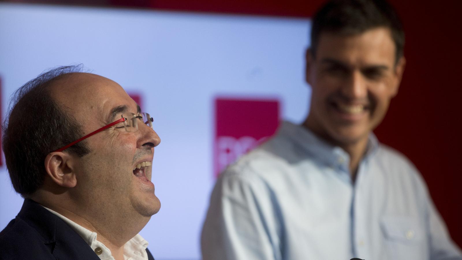 EN DIRECTE: Miquel Iceta és proclamat candidat del PSC en un multitudinari acte amb Pedro Sánchez