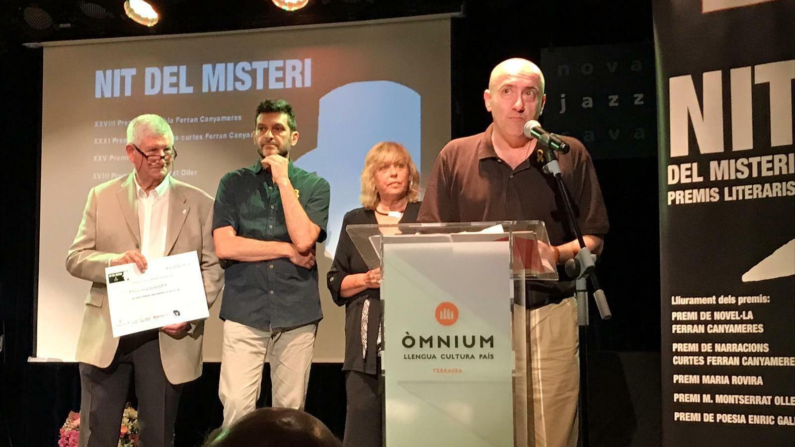 Manel Aljama guanya el Premi Ferran Canyameres de novel·la negra amb 'La soledat del llebrer' / ÒMNIUM