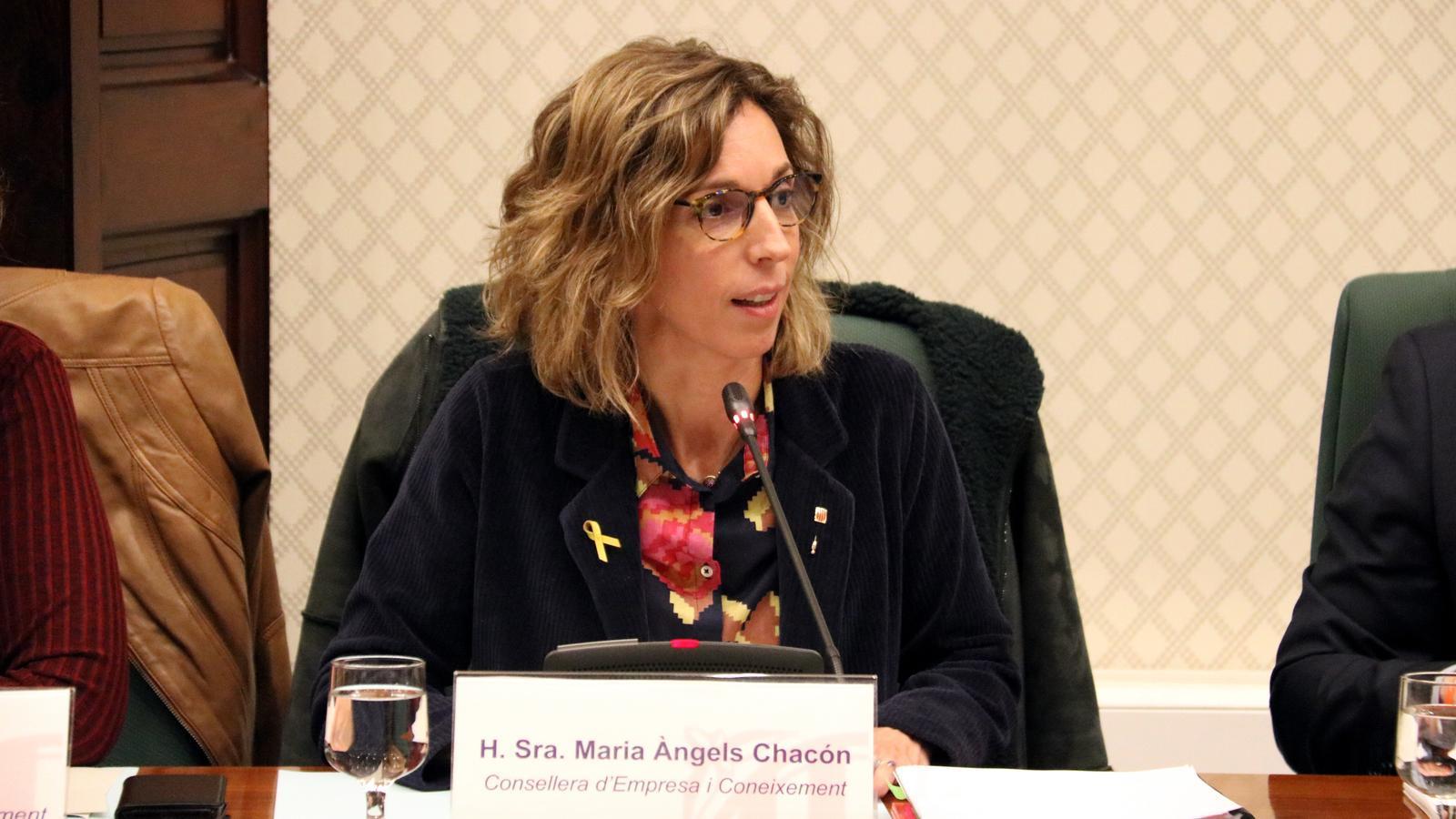 Compareixença de la consellera d'Empresa i Coneixement, Àngels Chacón