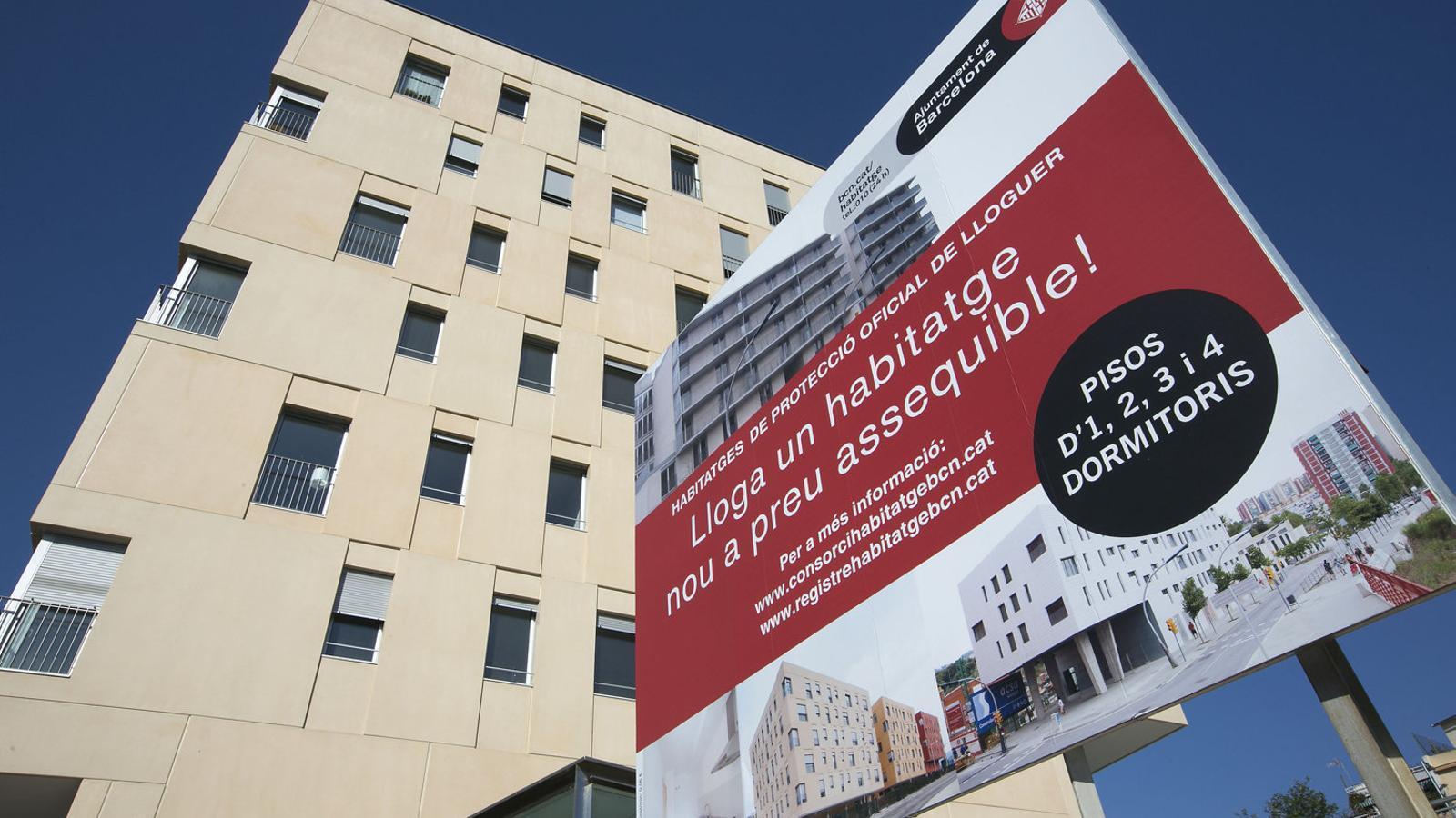 L'Ajuntament de Barcelona calcula que cada any es crearan 334 pisos a preu rebaixat