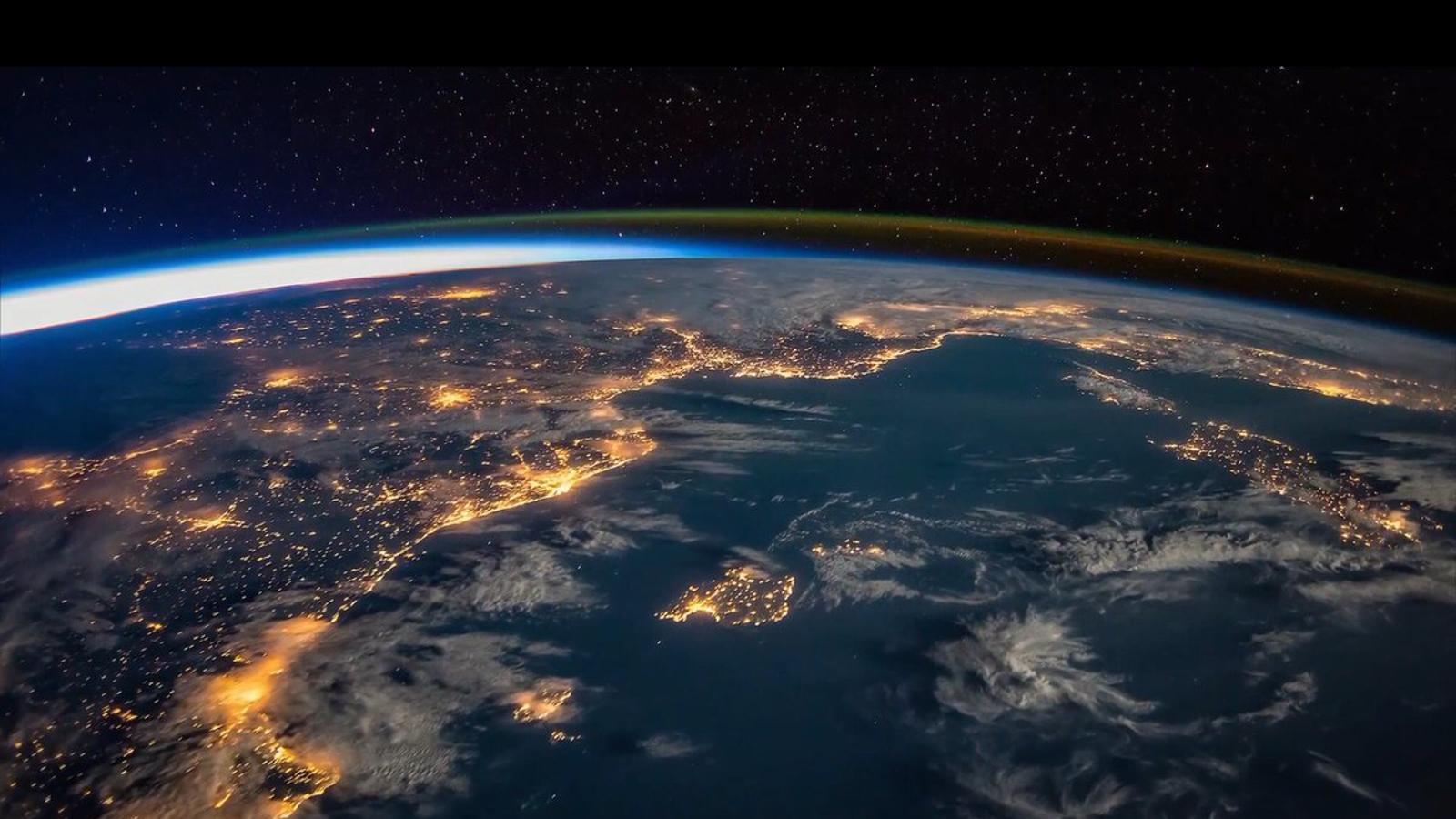 Imatge de les Illes des de l'Estació Espacial Internacional.