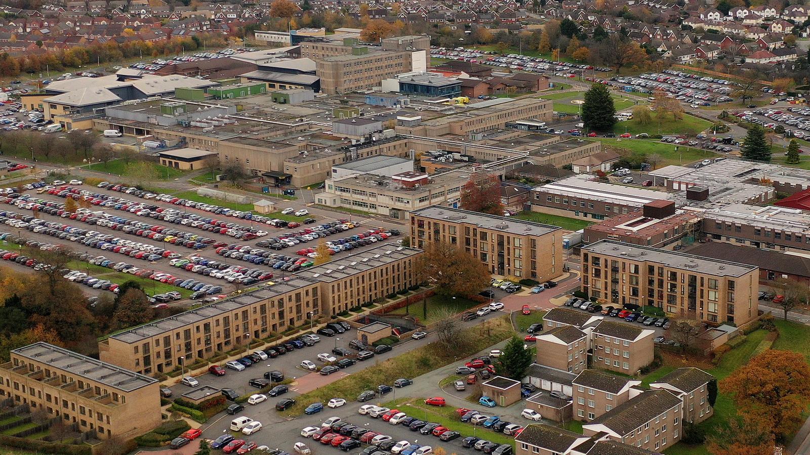 L'hospitals públics Royal Shrewsbury, en una imatge aèria