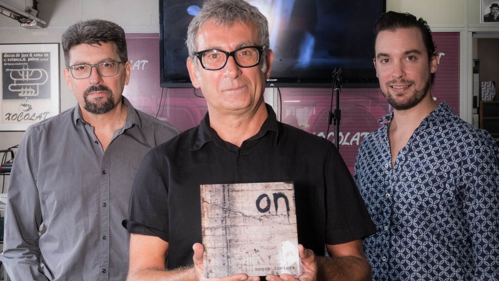 Jaume Bergas, Biel Fiol i Xavier Orestes, integrants de Negrei3colors