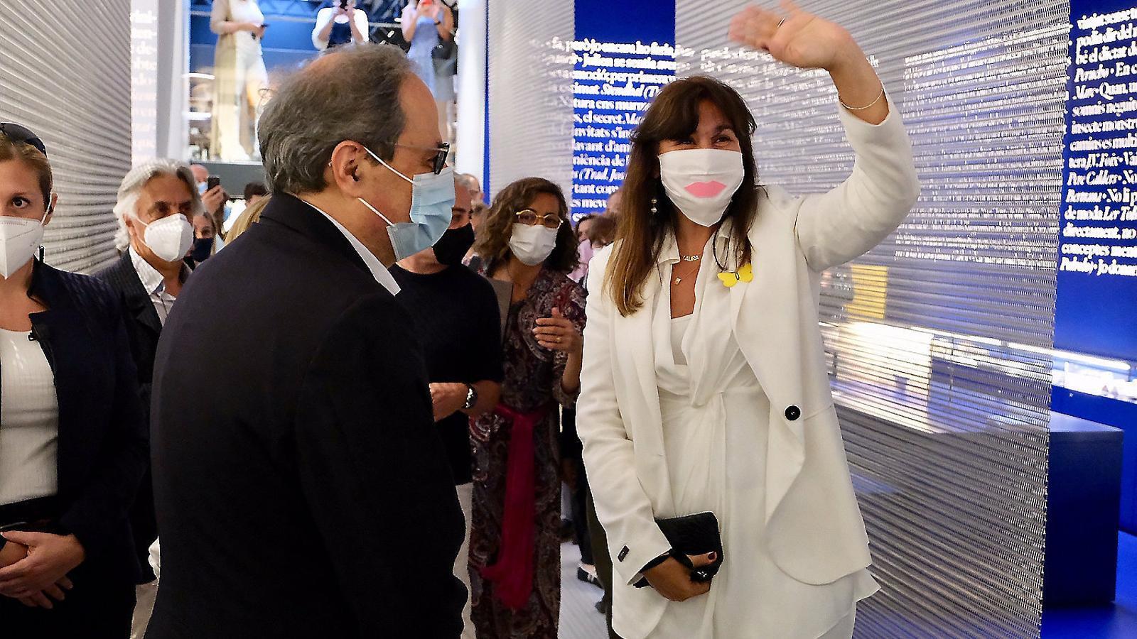 El president, Quim Torra, ahir amb la diputada Laura Borràs.
