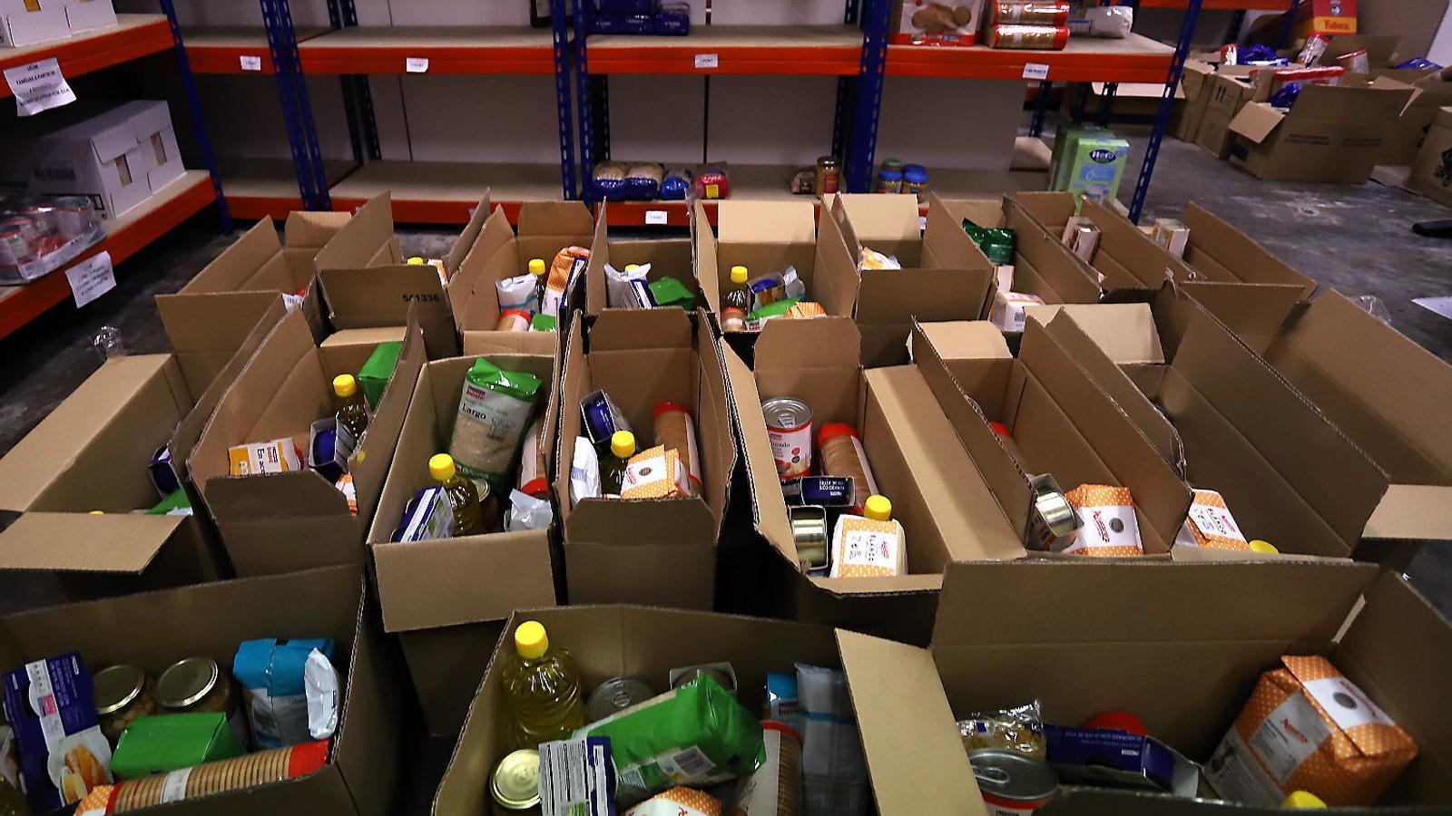 Imatge d'un centre de distribució d'aliments.