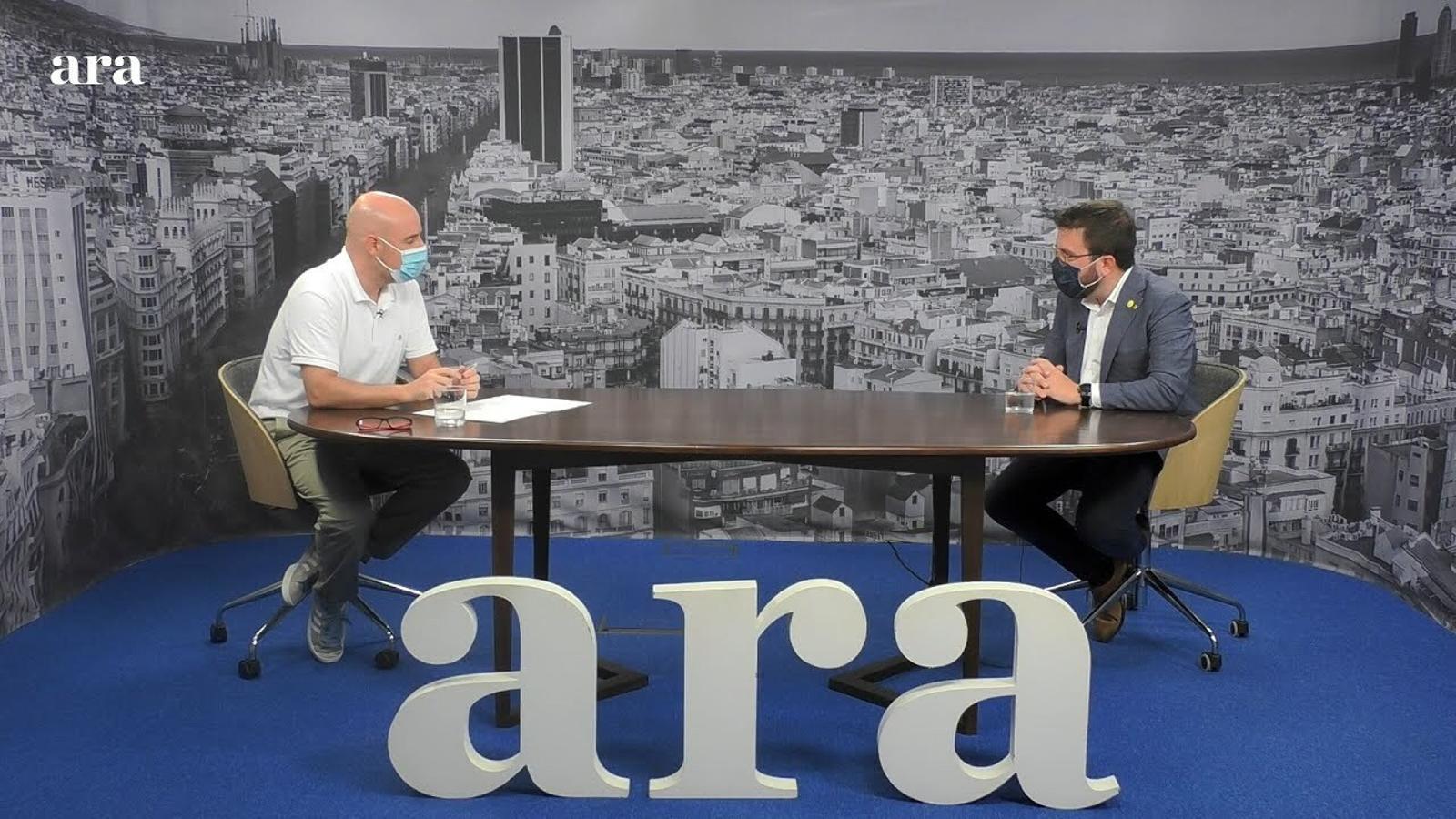 Entrevista de David Miró a Pere Aragonès