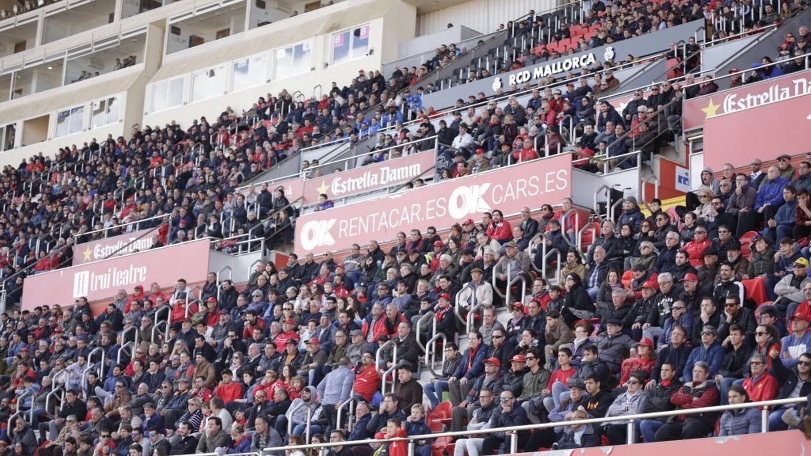 Més de sis mil mallorquinistes han vist el partit a Son Moix