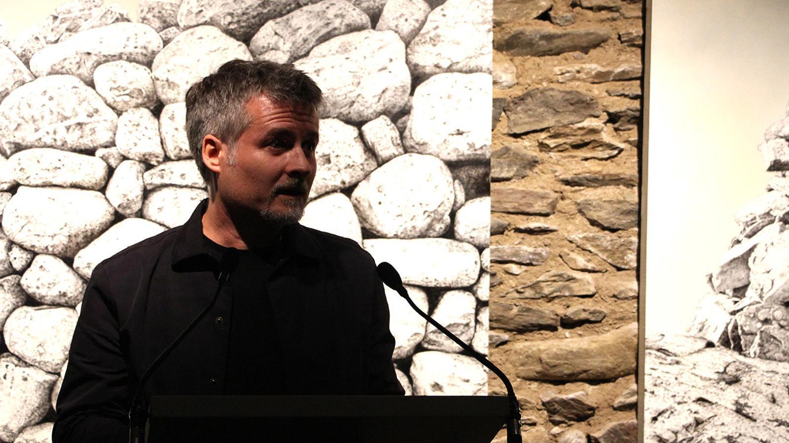 Jordi Fulla, l'autor de les obres que es poden veure a Cal Pal. / M. P. (ANA)