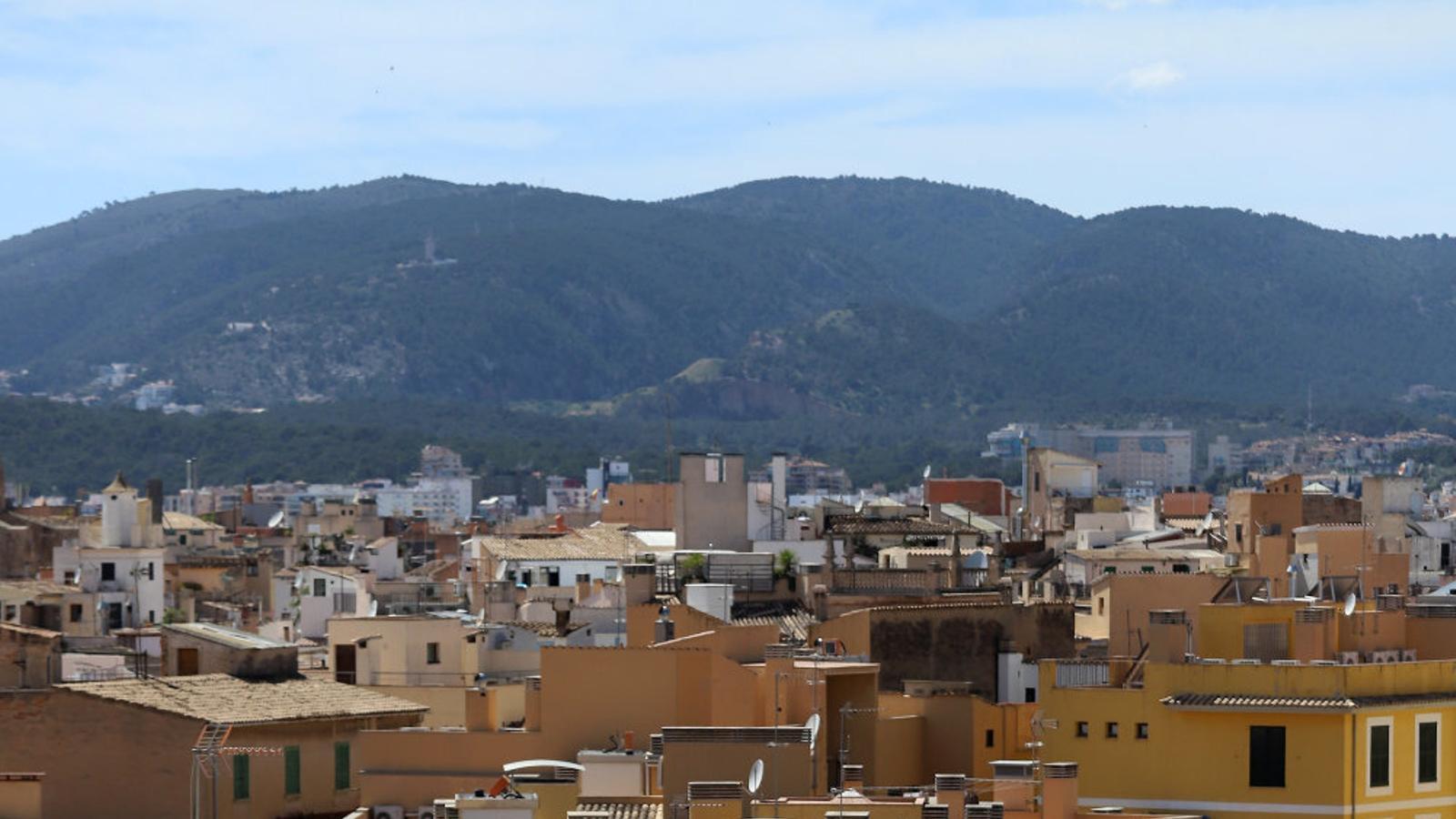 Vista de diversos terrats a Palma.