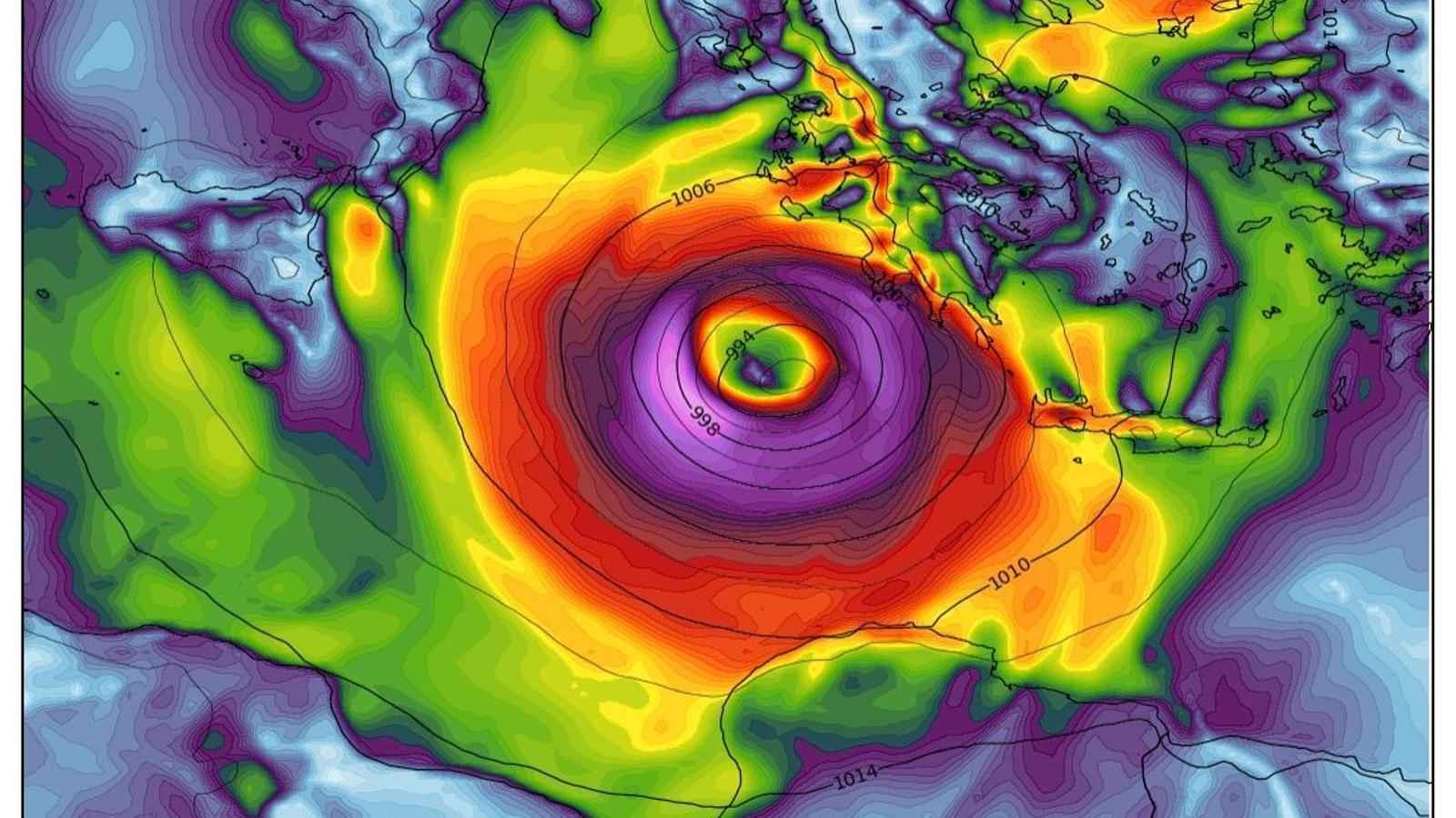 Una nova borrasca tropical amenaça de provocar vents huracanats al Mediterrani