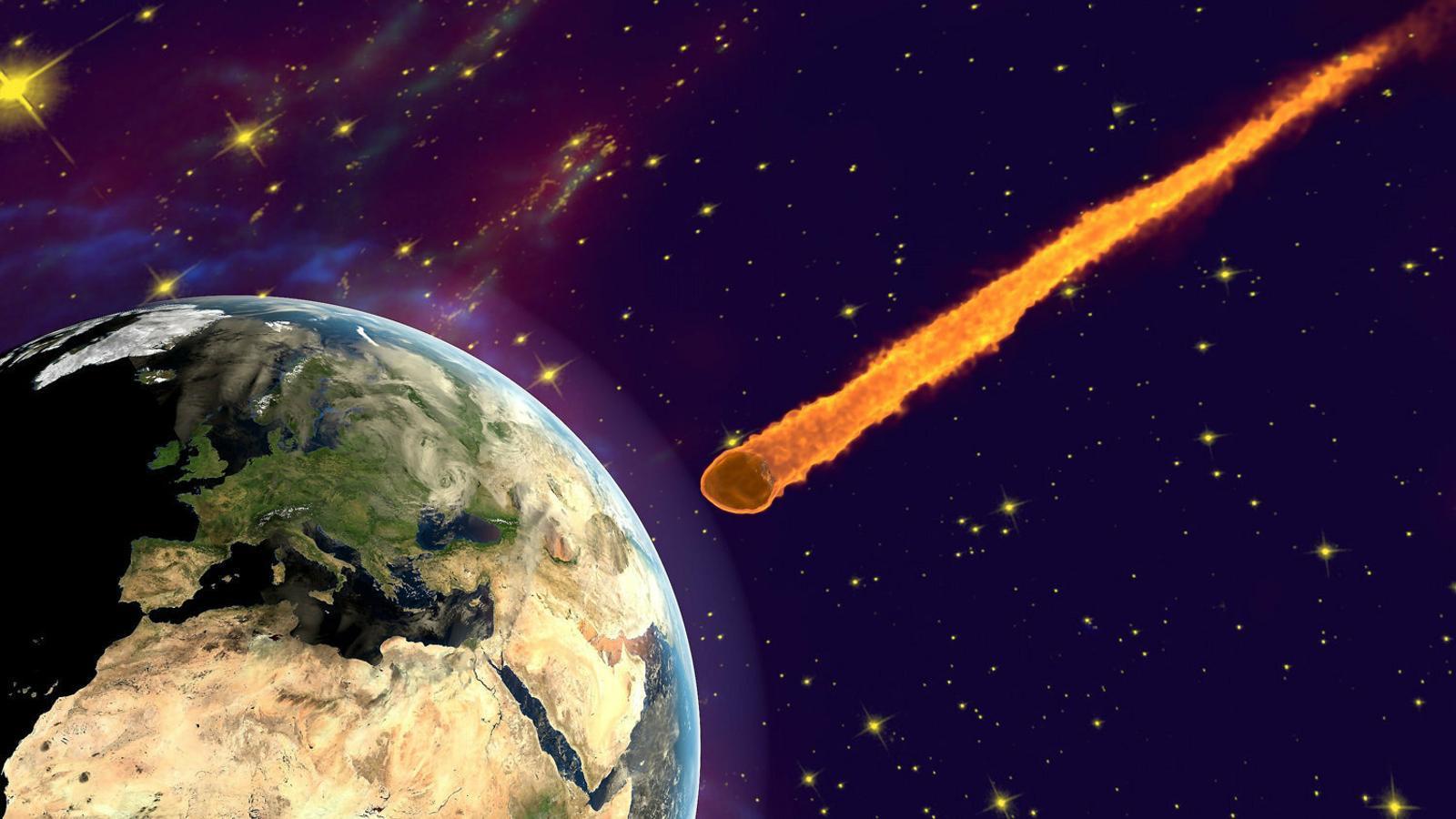 El meteorit que va impactar a l'actual península de Yucatán  és una de les hipòtesis per explicar l'extinció dels dinosaures fa 66 milions  d'anys.