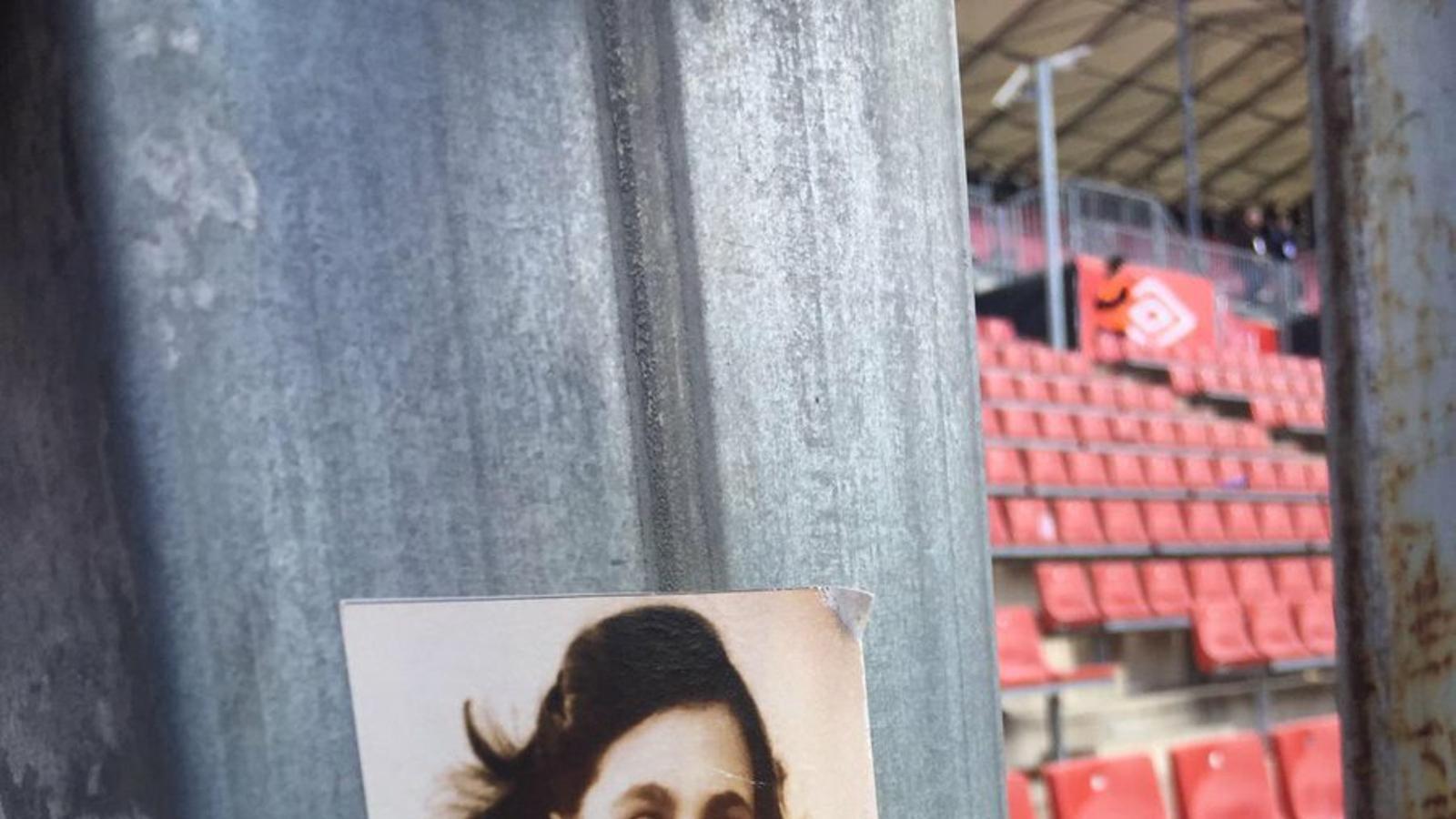 L'adhesiu d'Anna Frank amb la samarreta del Barça / PERIQUITOCAT