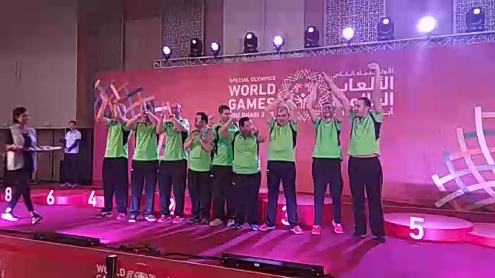 Entrega de medalles a la delegació dels Special Olympics Andorra