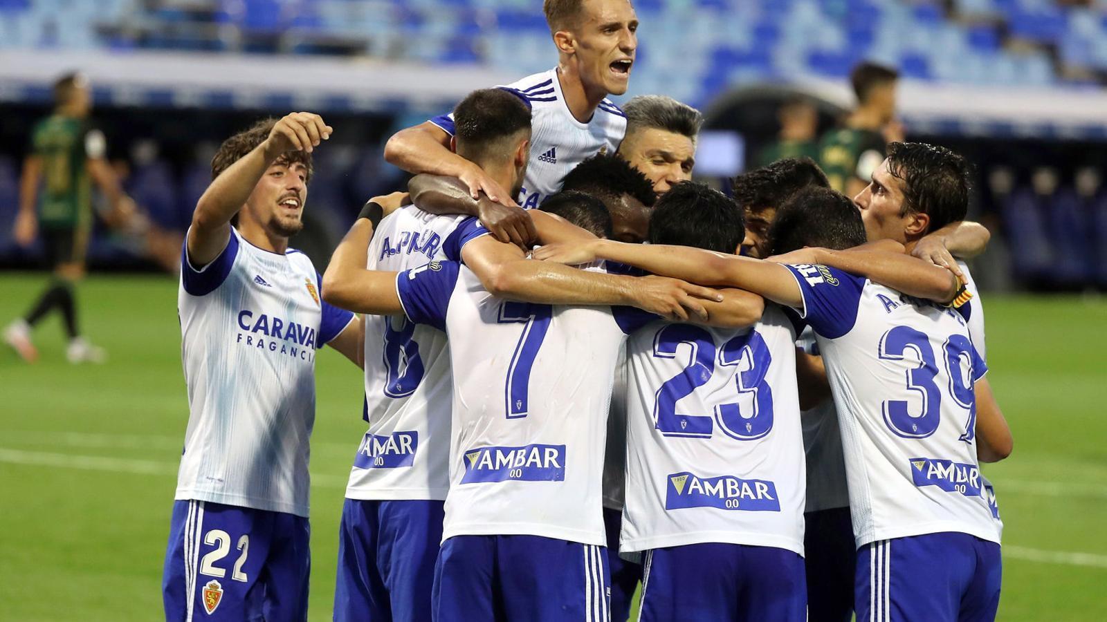 El Saragossa, tercer classificat de Segona, va anunciar un positiu a la seva plantilla.