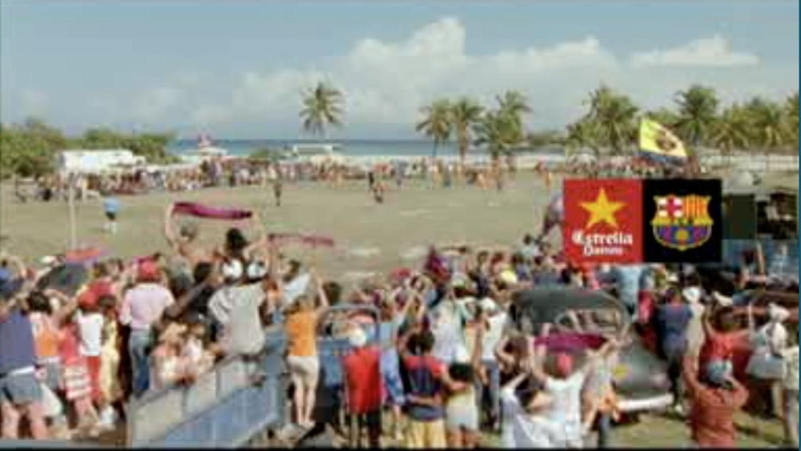 Espot de Damm de 2006: Culers i Estrella Damm a Cuba