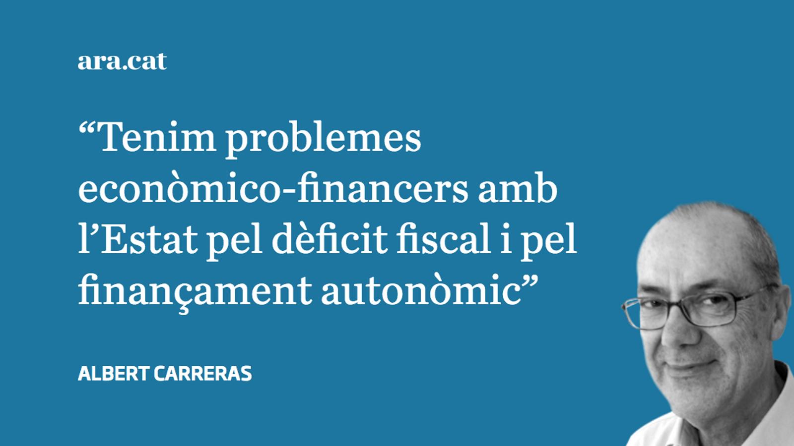 El dèficit del model de finançament i el fiscal s'han de sumar