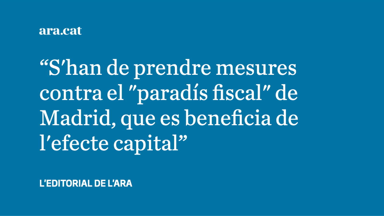 Pressupostos i dúmping fiscal