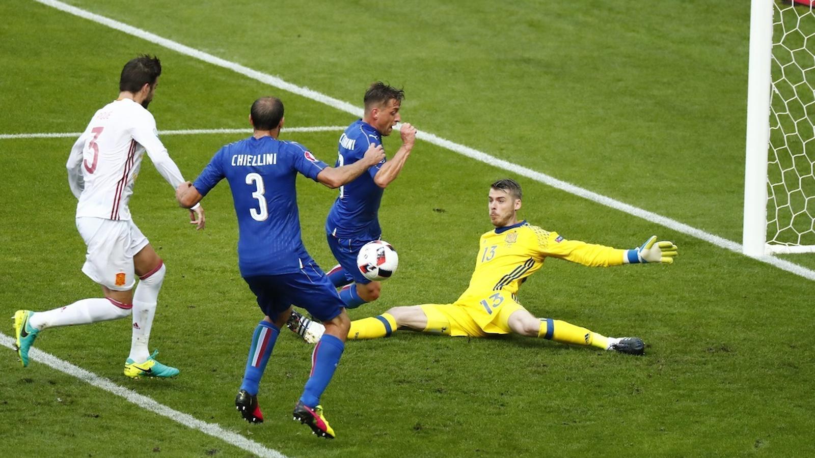 Chiellini ha fet el primer gol d'Itàlia contra Espanya